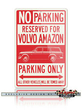 Volvo P210 P220 Amazon Station Wagon Reserved Parking Only 12x18 Aluminum Sign