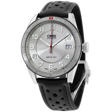 Oris Silver Dial Black Leather Strap Men's Watch 73376714461LS