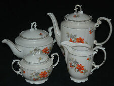 BEAUTIFUL ANTIQUE SCHLOTTENHOF CHINA COFFEE TEA SET BAVARIA 1930'S
