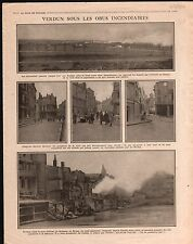 WWI  Bataillon de Verdun Obus Incendiaires Arras Ruines War 1916 ILLUSTRATION