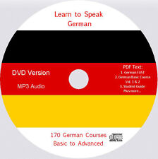 Learn to Speak German,170 Audio & PDF German text Courses on DVD