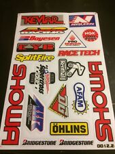Stickers Precut Decals Showa Renthal NGK ATV Off-road MX Kevlar DD12.2