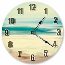 "10.5"" FLOWING WATER ON SEASHORE CLOCK - Large 10.5"" Wall Clock Home Décor - 3076"