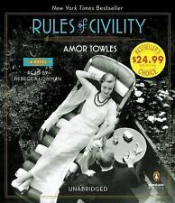 Rules of Civility: A Novel, Towles, Amor, Good Book