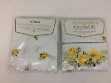 VTG Springmaid NOS Full Double No Iron Marvelaire Flat Fitted Sheets Roses USA