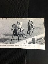 L1-3 Ephemera 1968 Small Picture  Horse Racing York Top Line Never Red