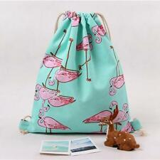 Women Flamingos Drawstring Beam Port Backpack Shopping Bag Travel Bag fashion