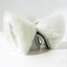 Cat  Ears Fox Clip Costume Cosplay Neko Anime Hair Long Fur Barrette Catwoman