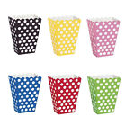 6Popcorn TREAT BOXES Polka Dots Spots - Birthday Party Favour Loot Paper Bags tb