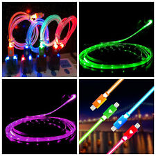 For iPhone LED Charger Luminescent Visible Current Smart Charger Sync Cable 2016