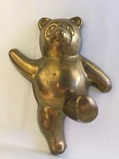 Brass Teddy Bear Coat Hat Hanger Hook Wall decor