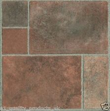 60 x Vinyl Floor Tiles - Self Adhesive - Bathroom Kitchen BN Geometric Stone 187