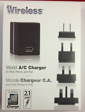 Just Wireless - World A/C Charger iPhone 4 iPad iPod MSRP$34.99 Sale $15.99