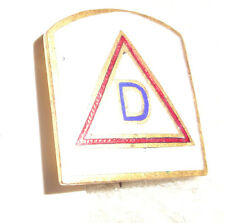 CREST,DI, PATCH TYPE DI, 39TH INFANTRY DIVISION, PIN BACK, MEDIUM GREY,NO HM