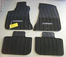 BLACK RUBBER SLUSH FLOOR MATS 2011 2012 2013 2014 2015 DODGE CHARGER