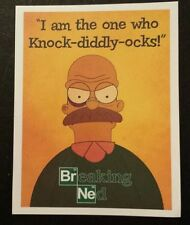 Breaking bad ned the simpsons funny Sticker laptop guitar halloween 043