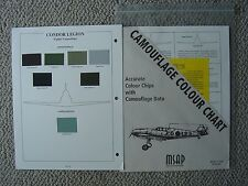 MSAP : Legion Condor Fighters (Spanish Civil War) Camouflage Colour Chip Chart