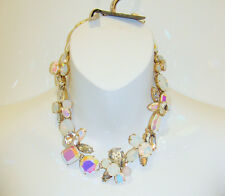 NWT J. Crew Crystal Cluster Stone Necklace E3340 NEW