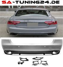 Für Audi A5 8T Heck RS5 Look Diffusor Wabengrill Stoßsange Grill 2008-2016 #02