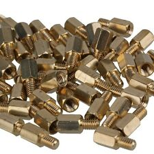 50 PCS 8mm+6mm Brass Hex Standoff Screw Pillars M4 PC Case Motherboard Risers