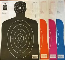 25 Each Of 4 Shooting Targets Silhouette Gun Pistol Rifle Range B-27 Qty:100