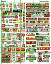 N015 DAVE'S DECALS N SCALE MARKET GROCERY STORE SIGNAGE WINDOW PRICES HEADER
