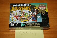 Super Mario All-Stars (SNES Super Nintendo) NEW SEALED V-SEAM, RARE!