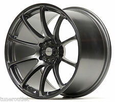 "ULTRALITE R5 19"" 10.5J ET20 5x100 5x114 DARK GUN METAL SPOKE ALLOY WHEELS Y2956"
