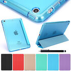 SUPER SLIM MAGNETIC LEATHER SMART COVER HARD CASE FOR APPLE IPAD MINI AIR & PEN