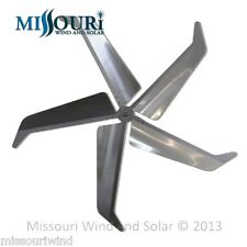 "Falcon 62"" Mach 5 wind turbine generator blades and hub aircraft aluminum USA"