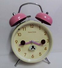 Brand New Large Rilakkuma Bear Sweet Smile Twin Bell Alarm Clock - Milky