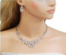 Boda nupcial Collar De Cristal Austriaco pendiente Joyas Set