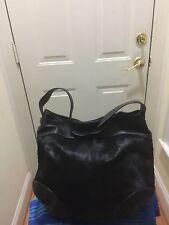 Aqua Madonna Tote Shoulder Bag Leather & CALF HAIR FUR H:15 L:16 D:5