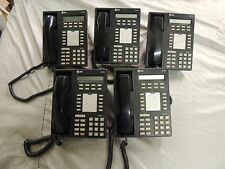 Lot of 5 - Lucent or AT&T Black Digital Phone 8410D for Digital PBX usage.