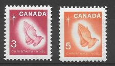 1966 mint pair of stamps - christmas MNH Canada - see scan