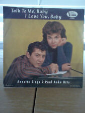 Annette Sings 2 Paul Anka Hits-Talk To Me,Baby & I Love You,Baby-Picture Sleeve