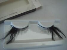Black with Side  Feather Long False Eyelashes (G-10)