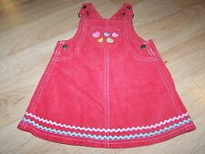 Size 12-18 Months Gymboree Tiny Hearts Corduroy Overall Jumper Dress Pink Red