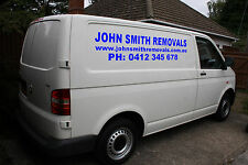 2X Large custom business sign Vinyl sticker for van/truck. Name Website & Number