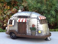 Miniature Dollhouse FAIRY GARDEN ~ Silver Camper Trailer House ~ NEW