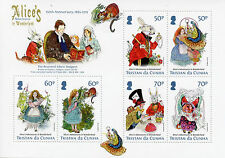 Tristan da Cunha 2015 MNH Alice Adventures in Wonderland 150th 6v M/S Stamps