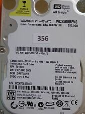 250GB Western Digital WD2500BEVS-00VAT0 | DACTJANB | 02 AUG 2008 #356
