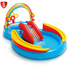 Intex Inflatable Water Fun Play Center Kids Outdoor Swimming Pool Small Slide
