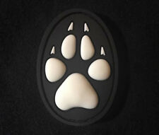 3D PVC K9 DOG TRACKER PAW TACTICAL US BADGE SWAT VELCRO® BRAND FASTENER PATCH