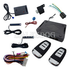 Universal PKE Car Alarm System Remote Start Stop Rolling Code With Shock Sensor