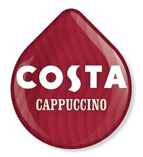 8 x Tassimo Costa Cappuccino T Discs - 4 Large Drinks 215ml Cups Loose T Discs