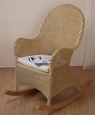 Rattan Schaukelstuhl inkl. Sitzkissen Relaxsessel Schwingstuhl Sessel Stuhl