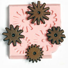 Gear Cog Silicone Mold Chocolate Fondant Resin Polymer Clays Metal Clays  (831)