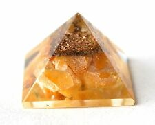 REIKI ENERGY CHARGED YELLOW JADE NATURAL CRYSTAL ORGONE POWERFUL PYRAMID STONE
