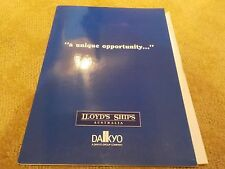 "LLOYD'S SHIPS - SALES MARKETING EXPORT BROCHURE FOR V102 A 96'9"" FAST MOTORYACHT"